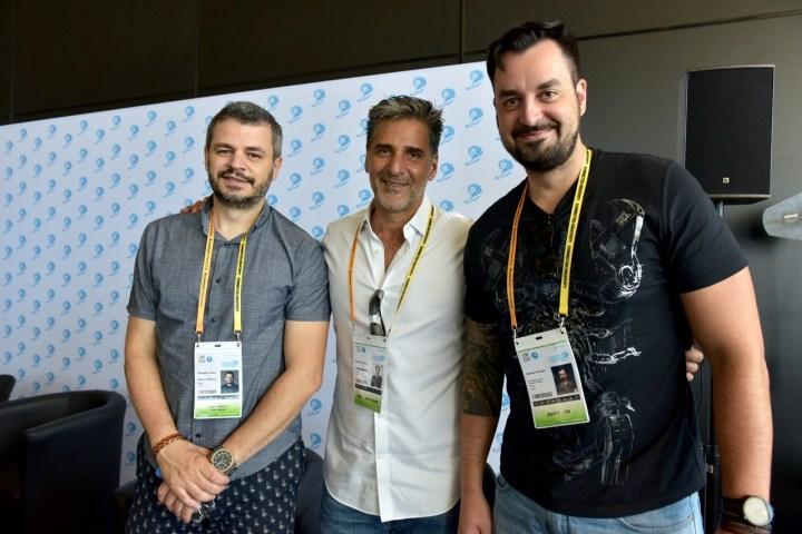 Claudio Lima, Bruno Prósperi, e Gabriel Araújo, no Palais des Festivals