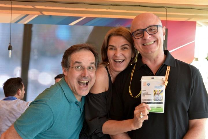 Abel Reis, Claudia Colaferro, e Mario D'Andrea