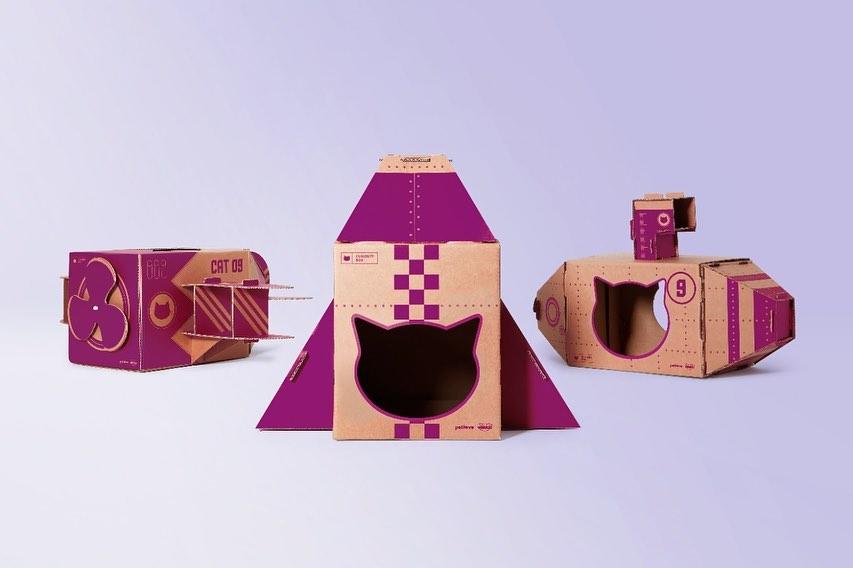 Caixa de Whiskas vira brinquedo para gatos - propmark