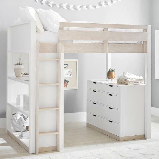 rhys loft bed with dresser set