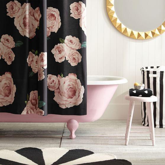 the emily meritt bed of roses shower curtain