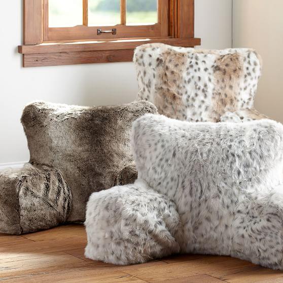 faux fur boyfriend pillow cover