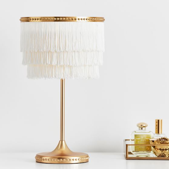 the emily meritt fringe table lamp