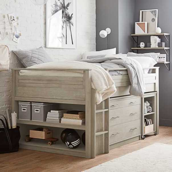 Sleep & Study® Low Loft Bed Set | Pottery Barn Teen
