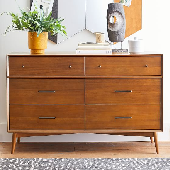 west elm x pbt mid century 6 drawer dresser