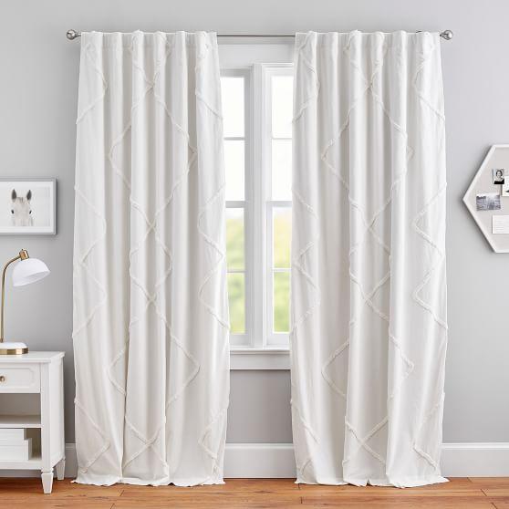 Ashlyn Tufted Blackout Curtain Teen Curtains Pottery Barn Teen