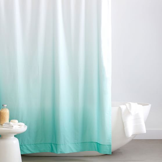 organic cotton ombre shower curtain