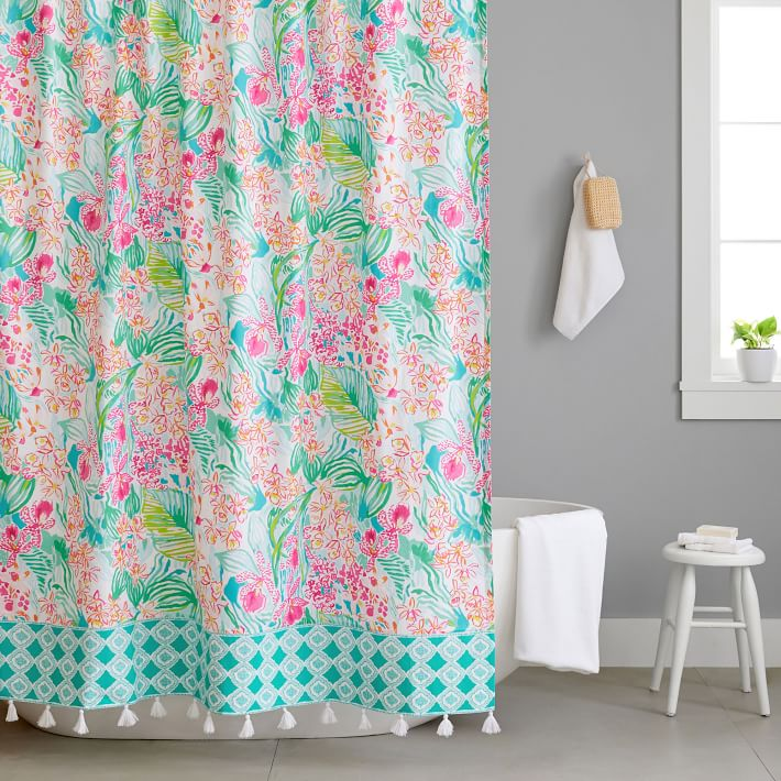 lilly pulitzer orchid shower curtain