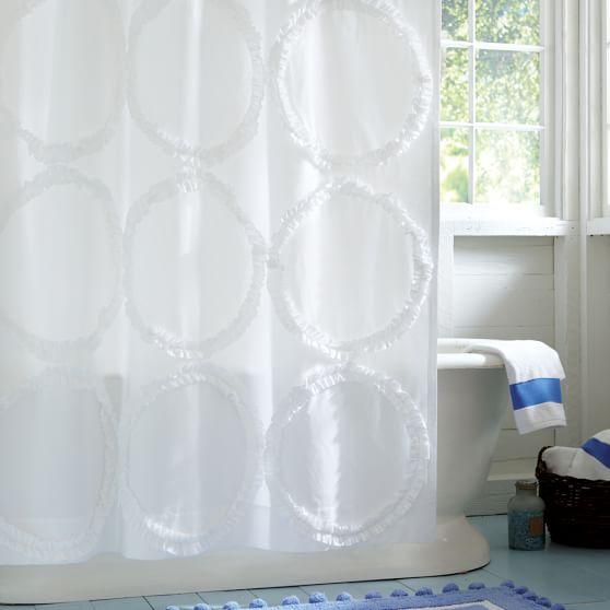 ruffle rings teen shower curtain