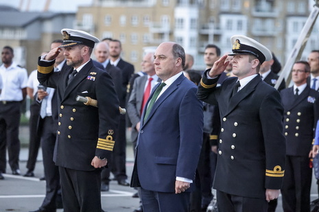 Defence Secretary Ben Wallace attends the Society of Maritime Industries reception