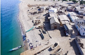 Construction of Maydh fishing jetty in the Sanaag region