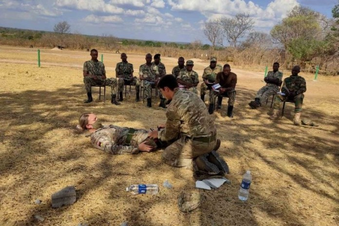 British troops share their medical skills with the rangers