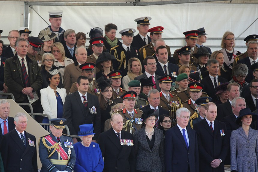 The Queen, Prime Minister Theresa May and the Defence Secretary, Sir Michael Fallon, were in attendance. Crown copyright.