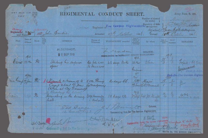 World War 1 service records, Crown Copyright