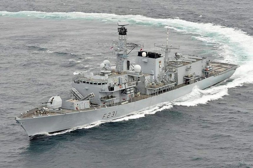 The Royal Navy Type 23 frigate HMS Argyll, which fired the Sea Ceptor missiles earlier this Summer.