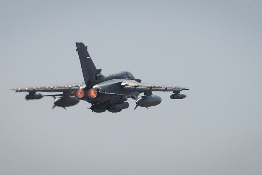 Tornado loaded with Storm Shadow cruise missiles.