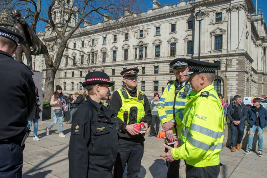MDP Deputy Chief Constable (right) with colleagues from Metropolitan Police Service and City of London Police.