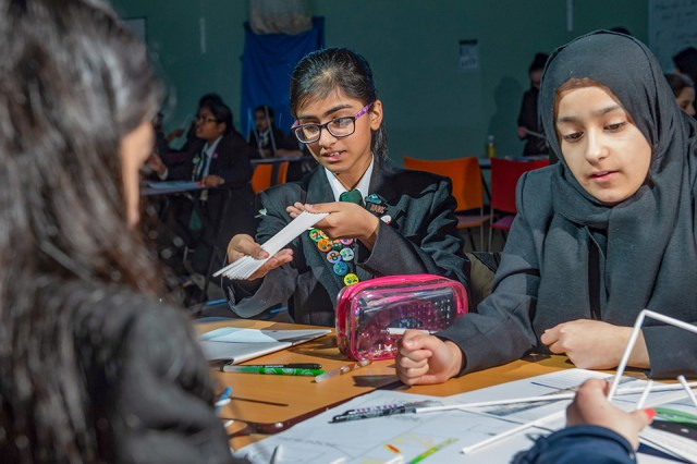 Pupils at Hodge Hill College, Birmingham, taking part in the HS2 secondary school programme.