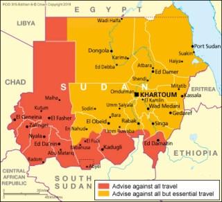 Map of Sudan (Source » UK Gov't)