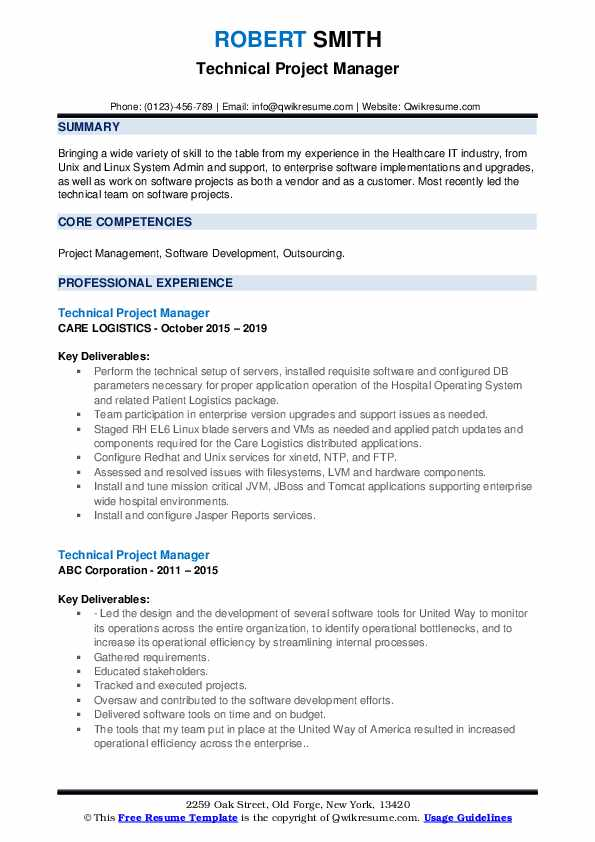 project manager core competencies resume examples  resume