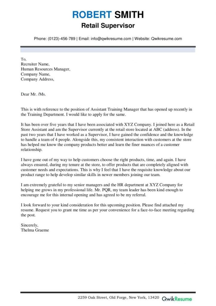 Cover Letter For Promotion Writing Tips Sample Examples