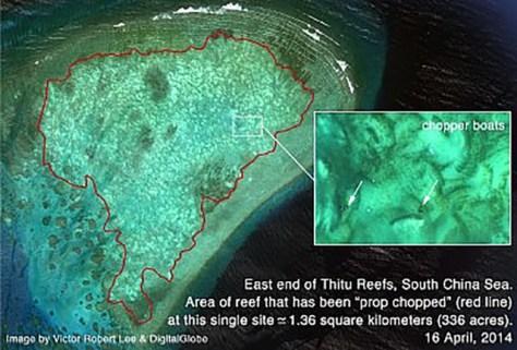 thitu reefs