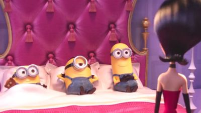 Sandra Bullock employs some little yellow helpers in Minions