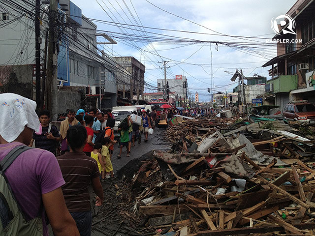 Rappler file photo of Tacloban City in the aftermath Super Typhoon Yolanda in November 2013.