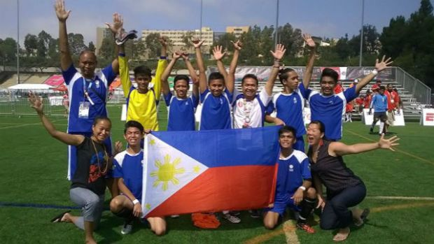 The victorious football team that participated in Unified Football, where special athletes and regular athletes play together. Photo from Special Olympics Philippines' Facebook page