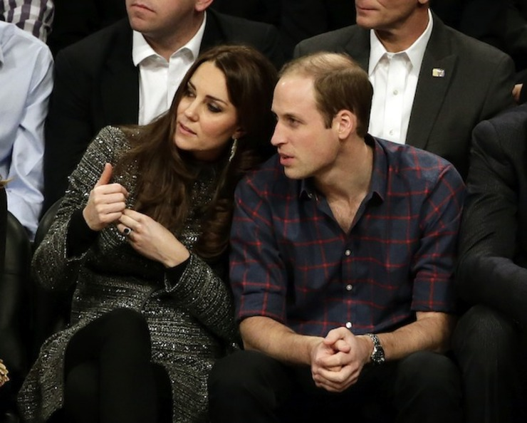 US Superstar Welcome For British Royals At NBA Game