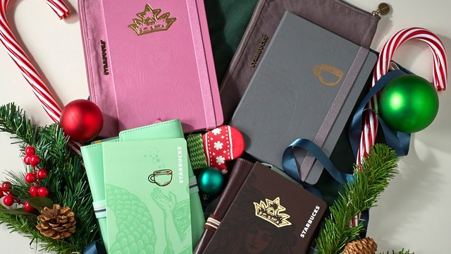 2020 COLLECTION. Starbucks releases two planners and two travel organizers just in time for the sticker-collecting holiday season. Photo courtesy of Starbucks Philippines