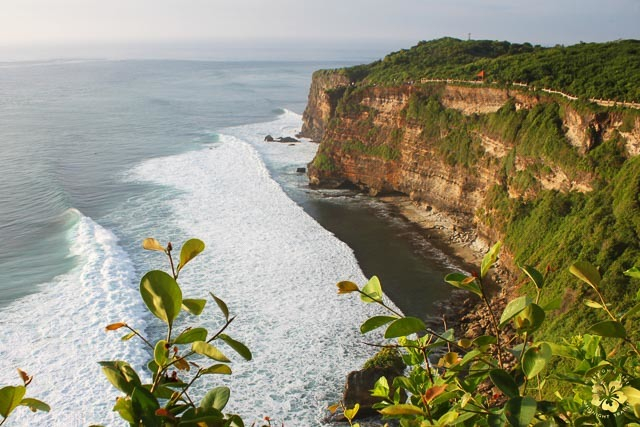 VIEW FROM THe TOP. Cliffs at Uluwatu Temple