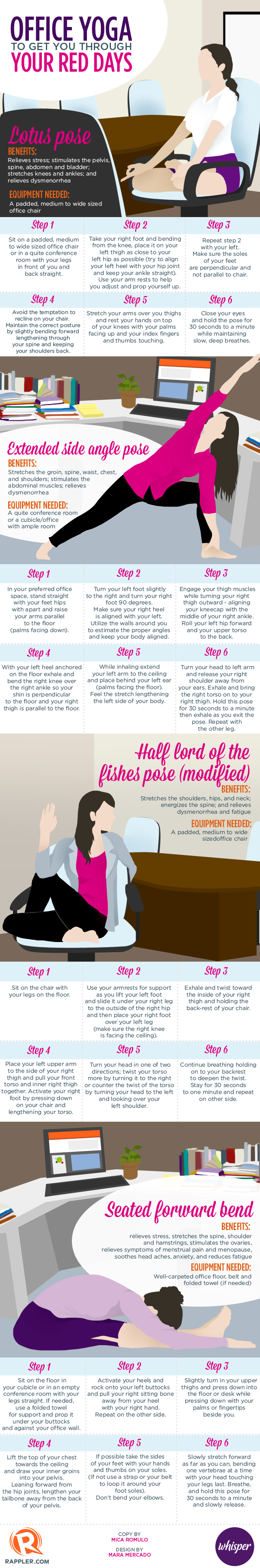 Office Yoga vs. Menstrual Cramps [Infographic] | ecogreenlove