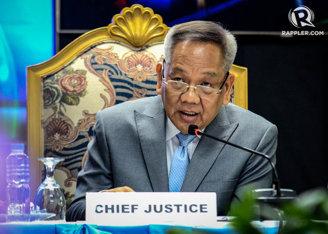 CJ responds to the press. Chief Justice Diosdado holds a one - hour press conference on November 8, 2019 as part of the traditional CJ demonstration against the press of the Supreme Court. Picture of Lito Borras / Rappler