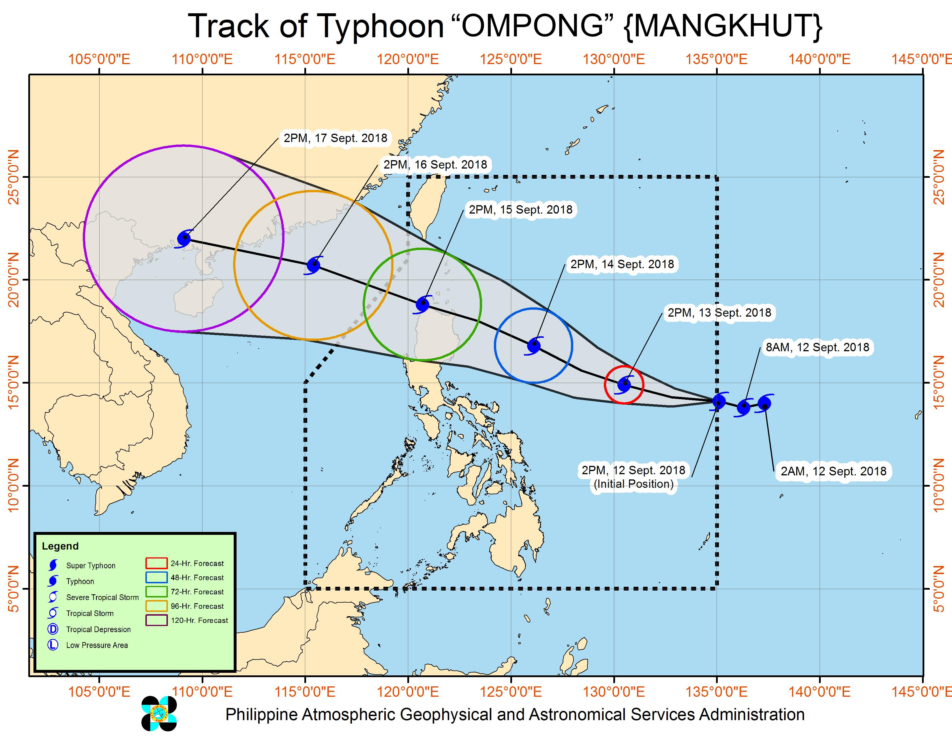Catanduanes Under Signal No 1 Due To Typhoon Ompong