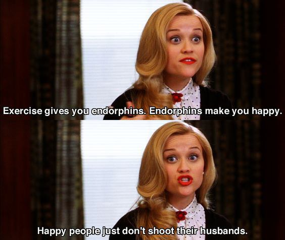 Image result for legally blonde happy people don't shoot their husbands