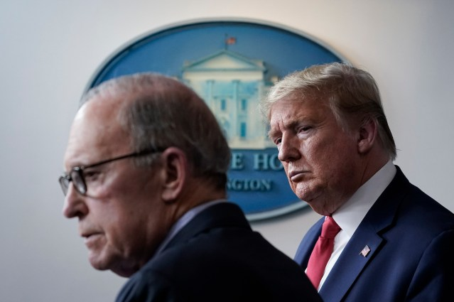 Top Trump economist Larry Kudlow says economy could be shut down for up to two more months