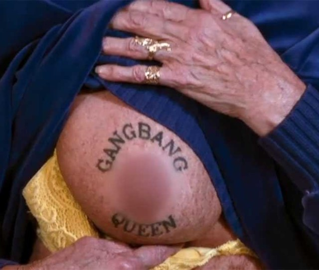 Old Granny With A Tattooed Pussy Img 10