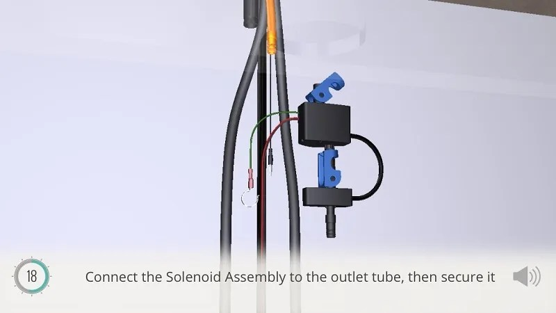 installing solenoid assembly is not