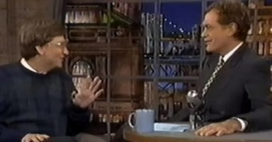 Bill Gates explaining the internet to a smug David Letterman in 1995 is hilarious in hindsight
