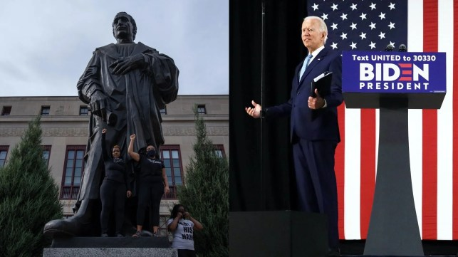 Joe Biden: The gov't has an 'obligation' to protect monuments to people like George Washington, Thomas Jefferson, and ... Christopher Columbus