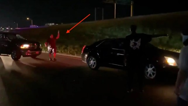 Black motorist erupts at BLM protesters blocking highway, forces them to move: 'Get the f**k out my way!'
