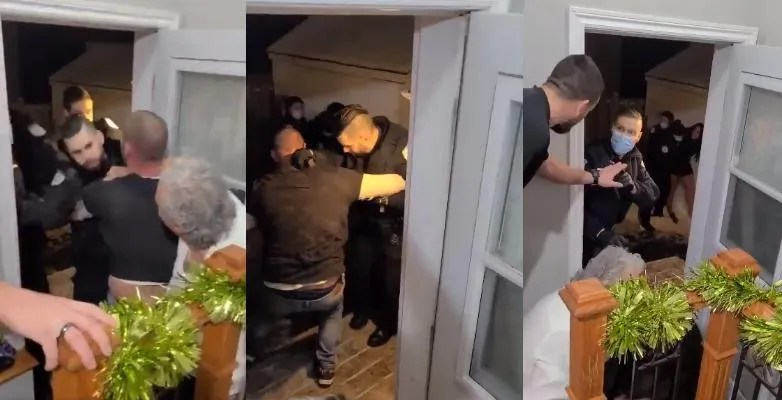 WATCH THIS: Distressing video shows police raid home for 'illegal gathering of six people' on NYE in Canada; two arrested, six fined ,546 each