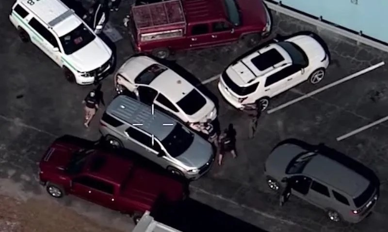 WATCH THIS: Video: Suspect plows Florida cop with stolen car, sends her airborne. Police swarm and take the driver down.