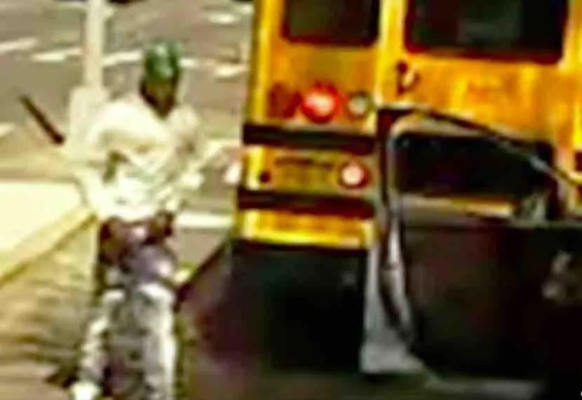 WATCH: Motorist appears to intentionally run over school bus driver — a mother of two — after honking horn at her, exiting his car to confront her