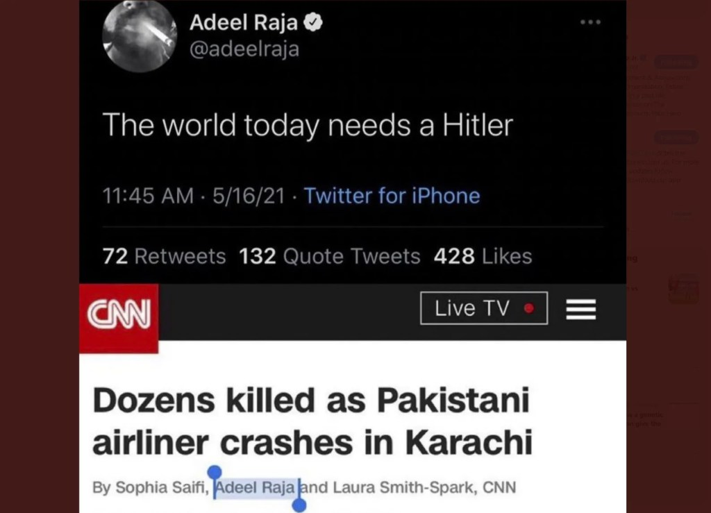 Longtime CNN contributor tweets, 'The world today needs a Hitler'; has history of anti-Semitism
