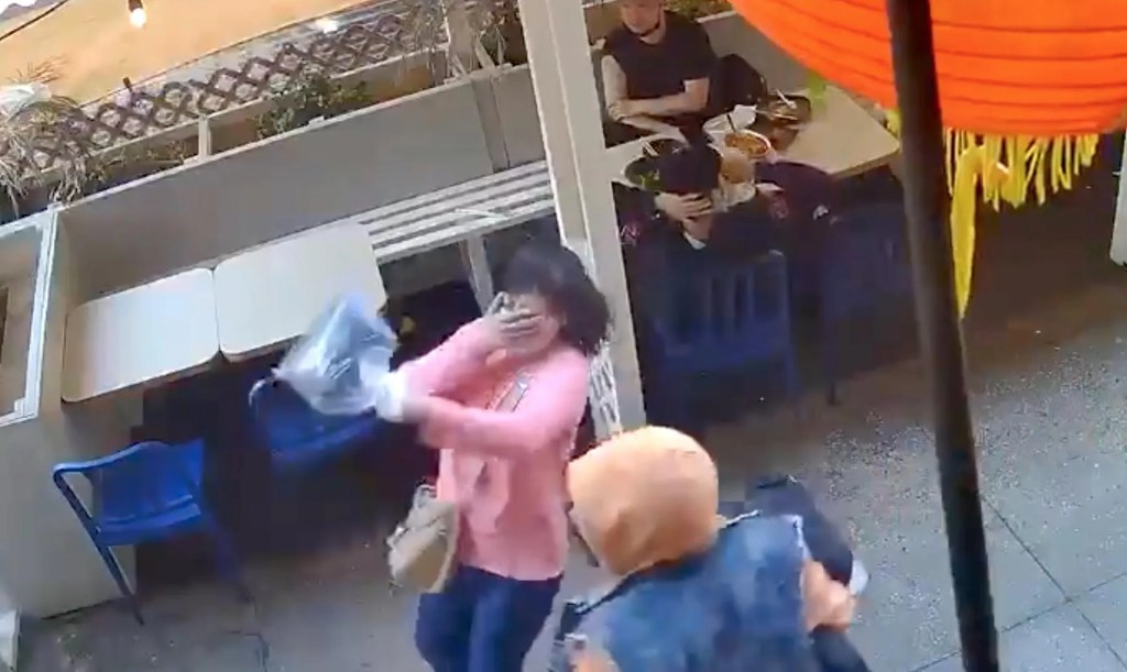 Disturbing video captures vicious unprovoked attack on Asian woman in NYC