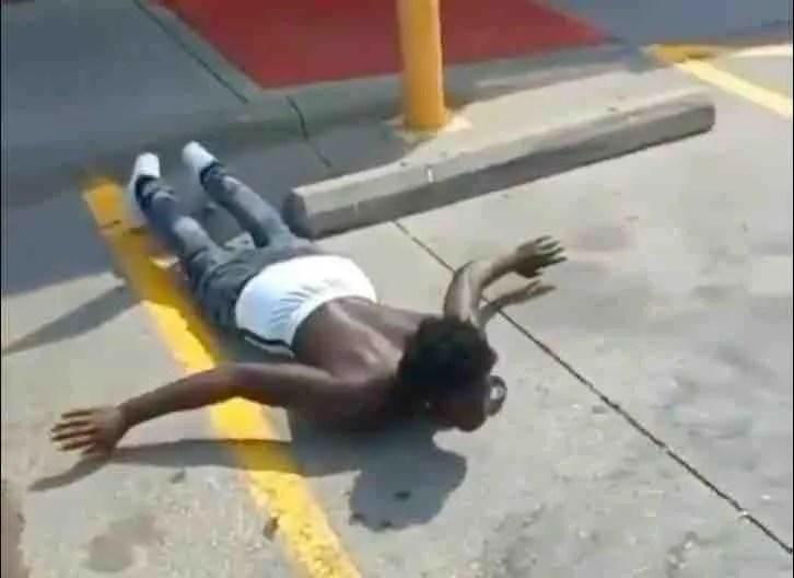 WATCH: VIDEO: Man holds thug at gunpoint after allegedly catching him trying to steal his car