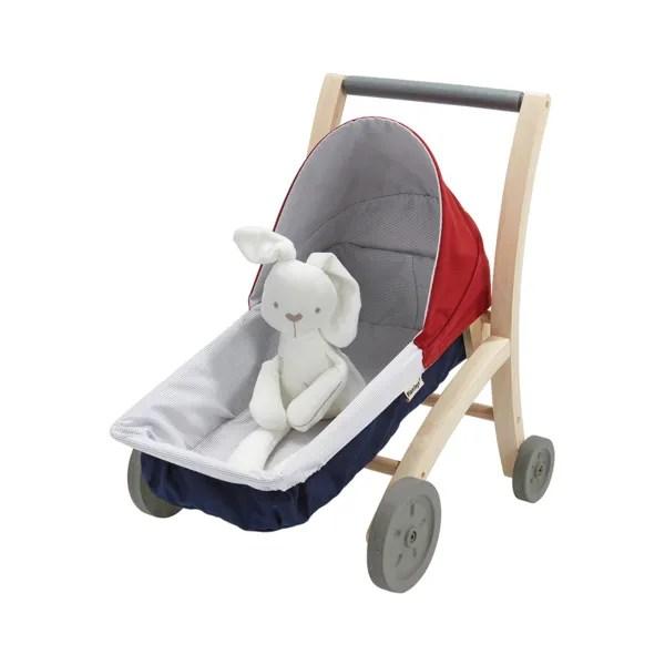 Janod wooden doll stroller