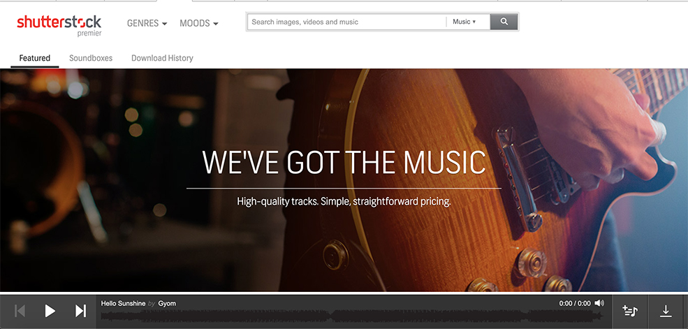 Music Resources for Video Editors — Shutterstock